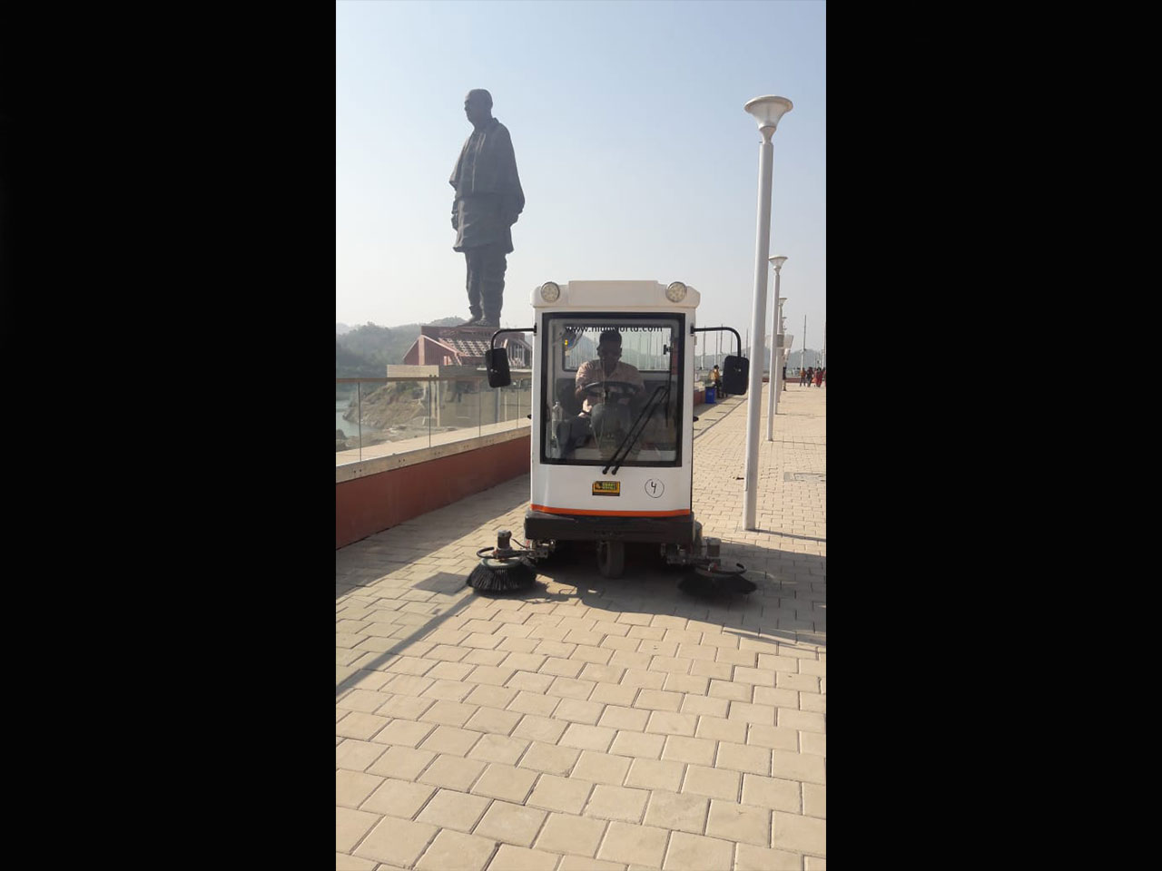 Sweeper Battery- Industrial Cleaning at Unity Site