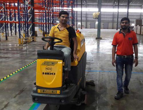 Cleaning 4 lakh sq. ft. area inside Shree Sai Dham Complex, Bhiwandi