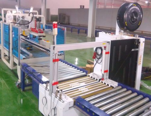 Automatic Online Box Strapping Machine Provided to One of Our Automotive Clients