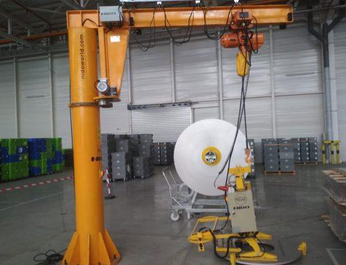 Aluminium Coli Lifter With Jib Crane Provided to Valeo, Morocco
