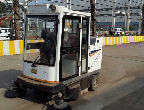Our Heavy Duty Ride on Sweeper E 800FB – Cleaning Floors at BGR Warehousing Complex, Bhiwandi