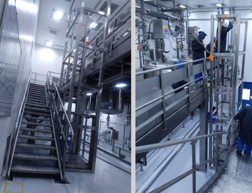 Stainless Steel Single Mast Goods Lift