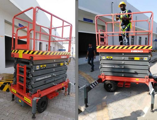 Mobile Scissor Lift with 500 kg Rated Load, Provided to Emami Ltd.