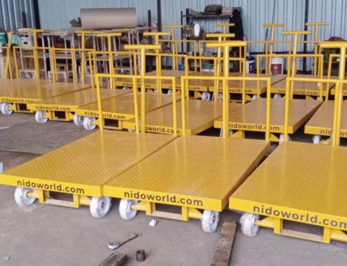 Customized Platform Hand Trolleys designed for a FMCG Company