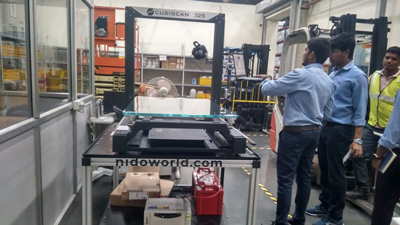 Dimensioning Weighing & Scanning Solution provided to Hyundai Mobis