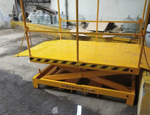 Nido Stationery Scissor Lift – Loading & unloading of crates in a chemical company