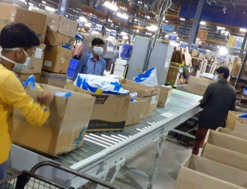 Total 75 Gravity Roller Conveyors Supplied to India's top 2 Ecommerce Companies