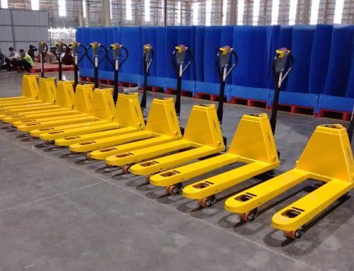 Bulk Supply of Semi Electric Pallet Truck to a Big E-commerce Company