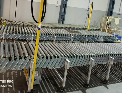 Expandable Flexible Roller Conveyors Provided to a Big Ecommerce Company