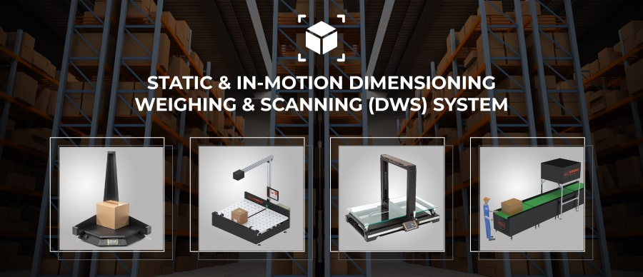 Static / in-motion dimensioning and weighing system